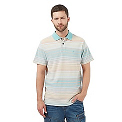 Mantaray - Big and tall green striped polo shirt