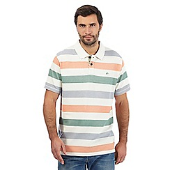 Mantaray - Multi-coloured block striped print textured polo shirt