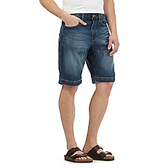 Mantaray - Big and tall blue denim chino shorts