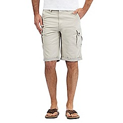 Mantaray - Big and tall beige cargo shorts