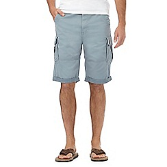 Mantaray - Big and tall light grey cargo shorts
