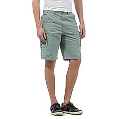 Mantaray - Big and tall light green cargo shorts