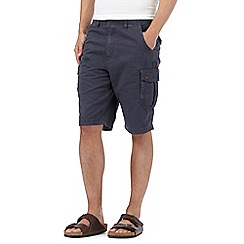 Mantaray - Big and tall navy cargo shorts