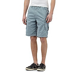 Mantaray - Big and tall light blue cargo shorts