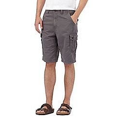 Mantaray - Big and tall dark grey cargo shorts