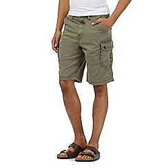 Mantaray - Big and tall khaki cargo shorts