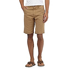Mantaray - Big and tall tan chino shorts