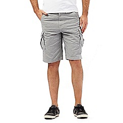 Mantaray - Big and tall grey tile print cargo shorts