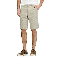 Mantaray - Big and tall grey printed chino shorts