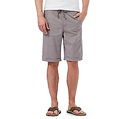 Mantaray - Big and tall light grey ripstop chino shorts