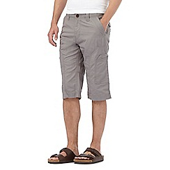 Mantaray - Big and tall light grey three quarter length shorts