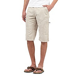 Mantaray - Big and tall beige three quarter length shorts