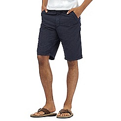 Mantaray - Navy grid chino shorts