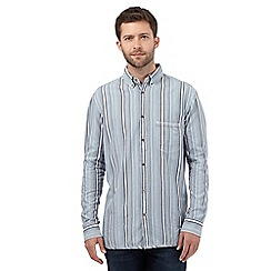 Mantaray - Blue textured stripe shirt