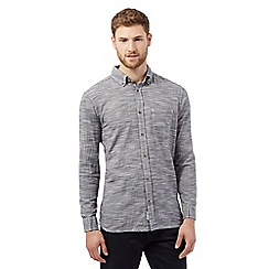 Mantaray - Navy textured striped shirt
