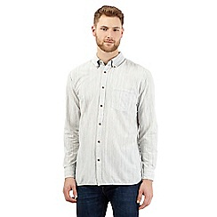 Mantaray - Big and tall off-white broken striped shirt