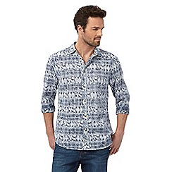 Mantaray - Navy leaf shirt