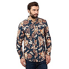 Mantaray - Big and tall navy large floral shirt