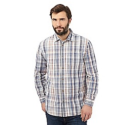 Mantaray - Off white checked regular fit shirt
