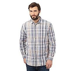 Mantaray - Big and tall off white checked regular fit shirt
