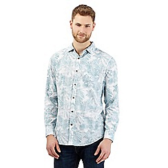 Mantaray - Big and tall turquoise floral print shirt