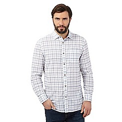 Mantaray - Big and tall white checked shirt