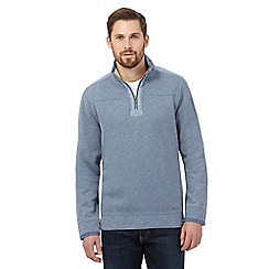 Mantaray - Big and tall pale blue pique sweater
