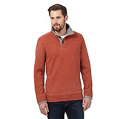 Mantaray - Big and tall orange pique sweater