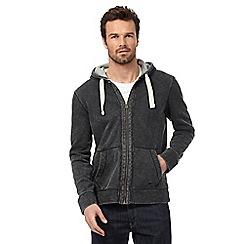 Mantaray - Big and tall grey pique hoodie