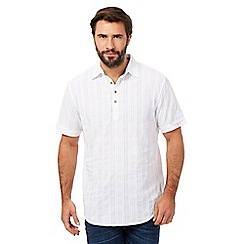 Mantaray - Big and tall white textured shirt