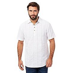 Mantaray - Big and tall white textured shirt