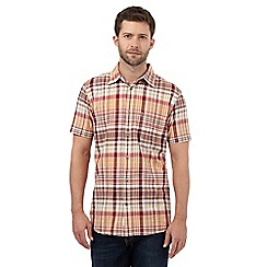 Mantaray - Big and tall orange checked shirt
