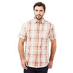 Mantaray - Orange checked print short sleeved shirt