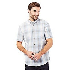 Mantaray - Blue checked print short sleeved shirt