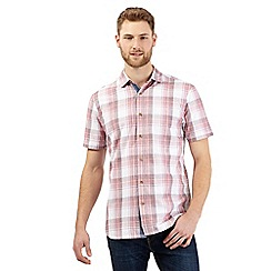 Mantaray - Big and tall pink checked print shirt