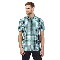 Mantaray - Big and tall green checked madras shirt