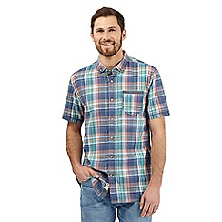 Mantaray - Big and tall multi-coloured checked printed shirt