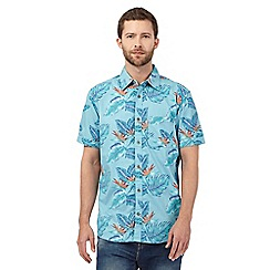 Mantaray - Blue flower print shirt