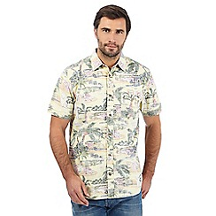 Mantaray - Big and tall multi-coloured tropical print reverse-effect shirt