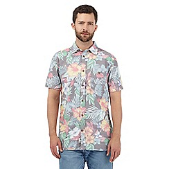 Mantaray - Multi-coloured tropical floral print shirt