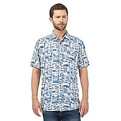 Mantaray - Big and tall blue printed shirt