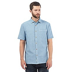 Mantaray - Big and tall light blue basket weave shirt