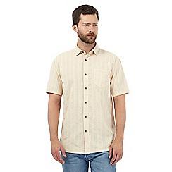 Mantaray - Big and tall beige textured striped shirt