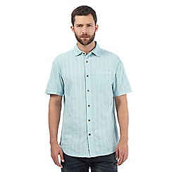 Mantaray - Pale blue textured shirt