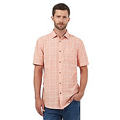 Mantaray - Big and tall orange textured checked shirt