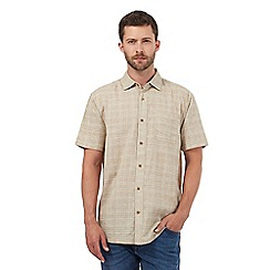 Mantaray - Big and tall taupe textured checked shirt