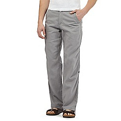 Mantaray - Big and tall grey linen blend trousers