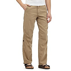 Mantaray - Big and tall beige linen blend trousers