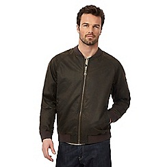 Mantaray - Brown waxed baseball jacket