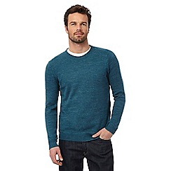 Mantaray - Big and tall turquoise crew neck jumper